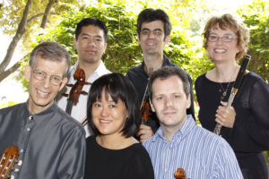John Dowdall (guitar), Chen-Hou Lee (cello), Marie Wang (vln), Baise Magniere (vln), Anthony Devroye (vla) and jan Boland (flute).